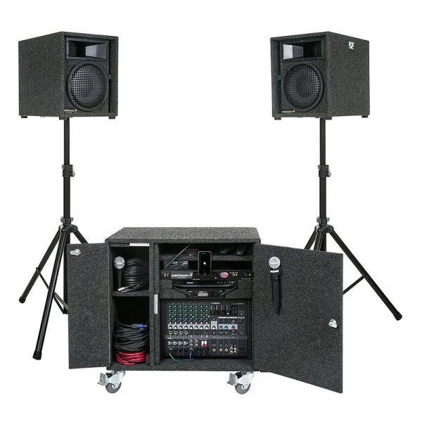 miniquickdeluxewithsidepocketrackonly-with-optional-side-pocket-speaker-stand-holder-complete